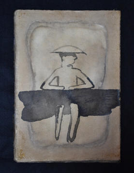 Marsh, 31×21cm, chinese ink on lacquer paper, 2012  Sold