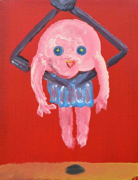 選ばれる, The chosen, acrylic on canvas, 41×31.8cm, 2020   Sold