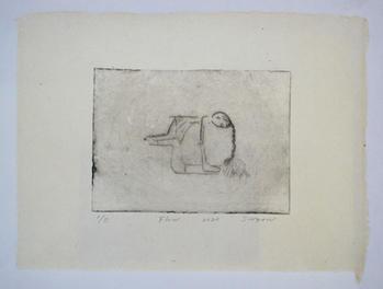 Flow, monotype, 24×33cm, ink on handmade paper(雁皮紙), 2020
