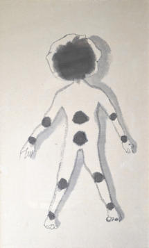 Woman, 59×36cm, Chinese ink on handmade paper, 2013