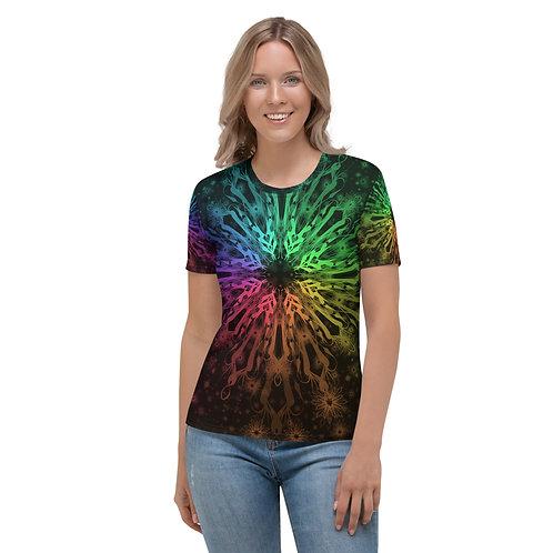 138. Elegant Bromeliad Snowflake Colorwild I Women's T-shirt