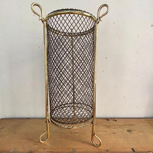 Antique Brass Wire Waste Paper Basket