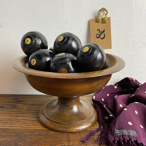 Collection of Eight Ebony Balls