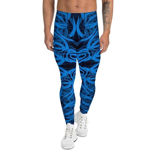 19E21 Spectrum Aquamarine Men's Leggings