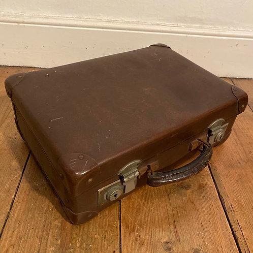 Tiny Antique Globe Trotter Suitcase