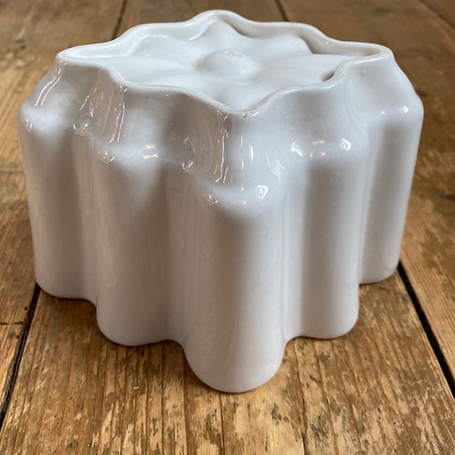 Antique White Ironstone Shelley Jelly Mould