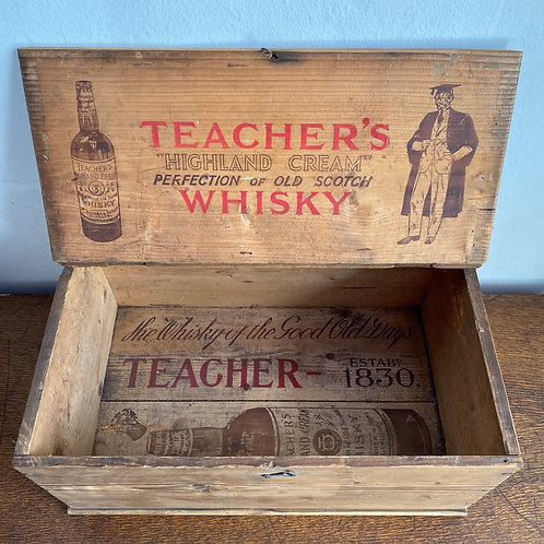 Vintage Pine Whisky Crate