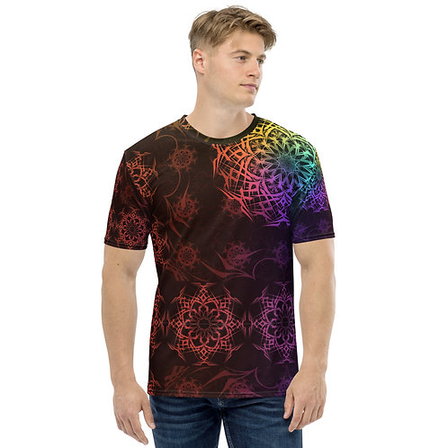 119V1 Stained Glass Colorwild I Men's T-shirt