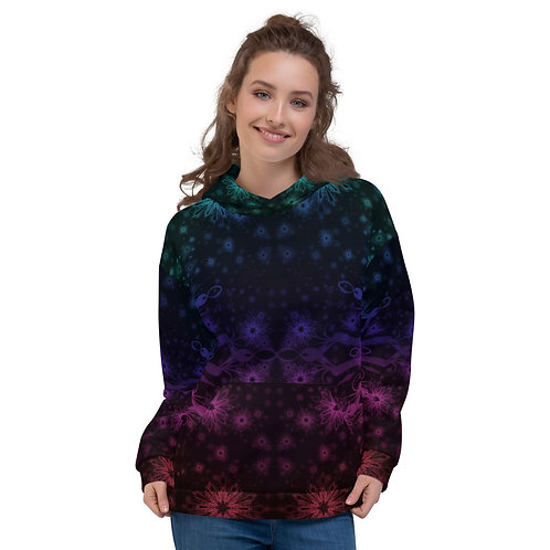 138V1 Elegant Bromeliad Snowflake Colorwild I Black Unisex Hoodie