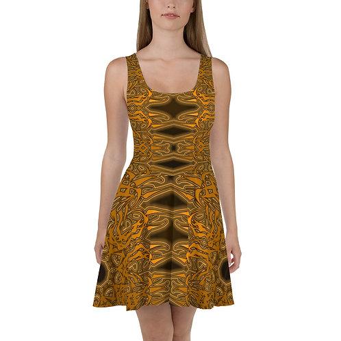 6W21 Spectrum Gold Skater Dress