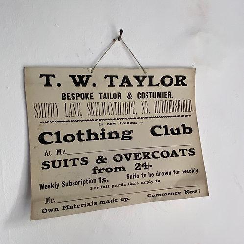 Original Edwardian Advertising Card