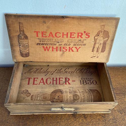 Vintage Pine Whisky Crate