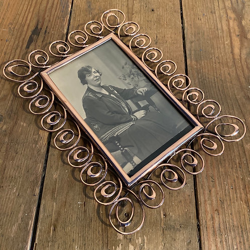 Antique Art Nouveau Copper Wire Frame