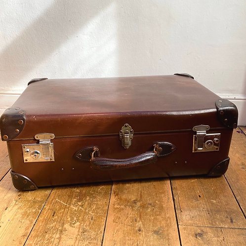 Early Vintage Globe Trotter with Riveted Leather  Corners