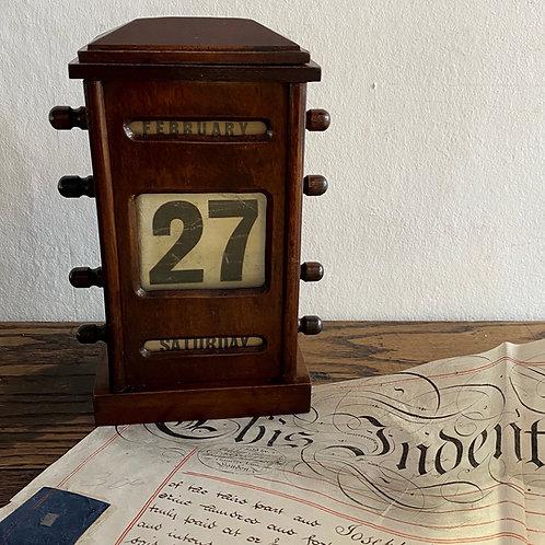 Antique Perpetual Desk Calendar
