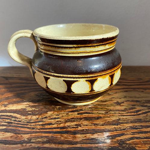 Small Antique Mochware Pot