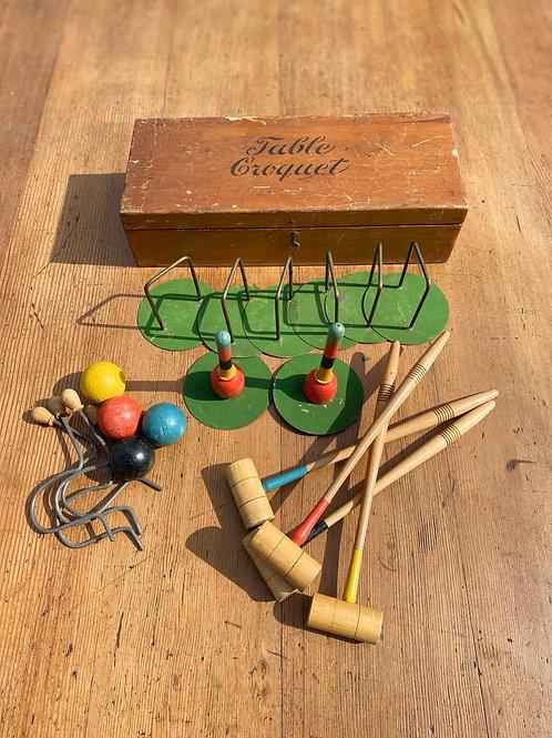 1920's Boxwood Table Croquet Set