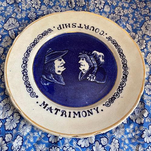 Victorian Courtship & Matrimony Plate