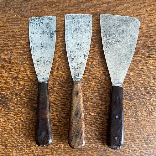 Vintage Rosewood and Steel Scraper