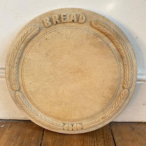 Antique Carved Sycamore Bread Board