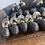 Thumbnail: 10 Pairs Ebony and Brass Beehive Doorknobs
