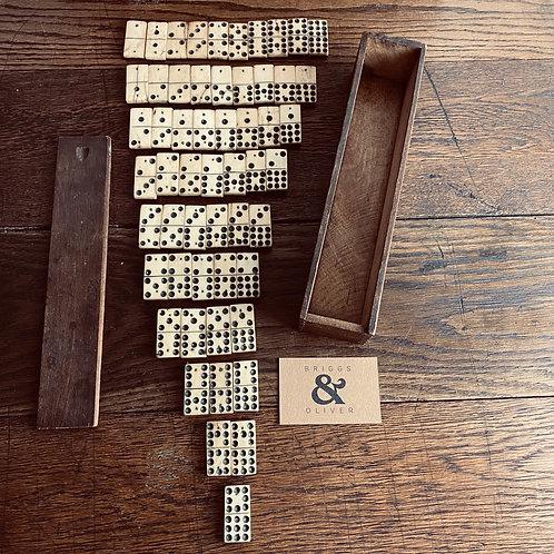 Rare Nine Spot 'Lancashire' Dominoes