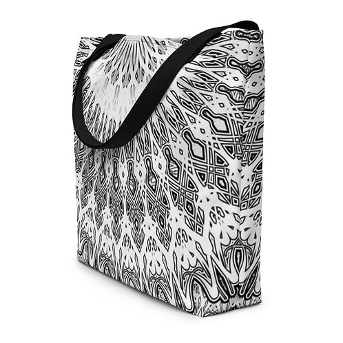 8F21 Oddflower W Beach Bag