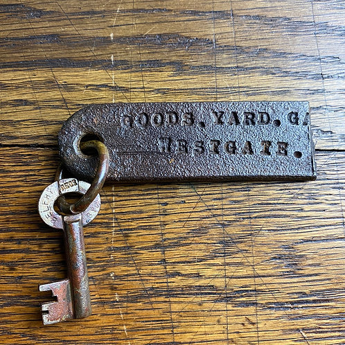 Vintage Iron Fob and Key