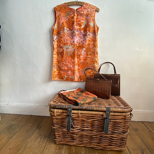 Fabulous 1960's Orange Shift Dress