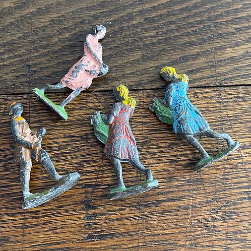 Four Vintage Painted Lead Figures