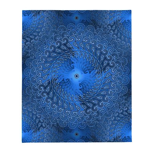 11Y21 Spectrum Blue Throw Blanket