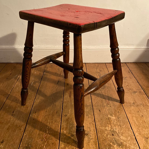 Red Top Kitchen Stool