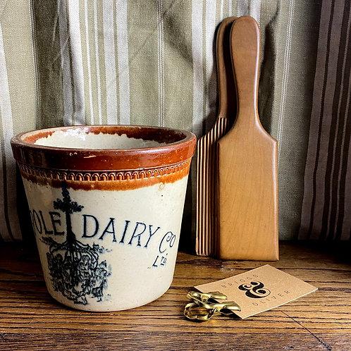Antique 2lb Maypole Dairy Butter Crock