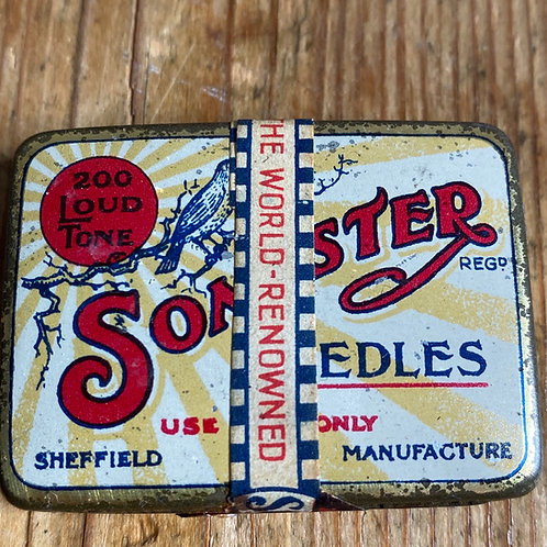 Antique Unopened Gramophone Needle Tin