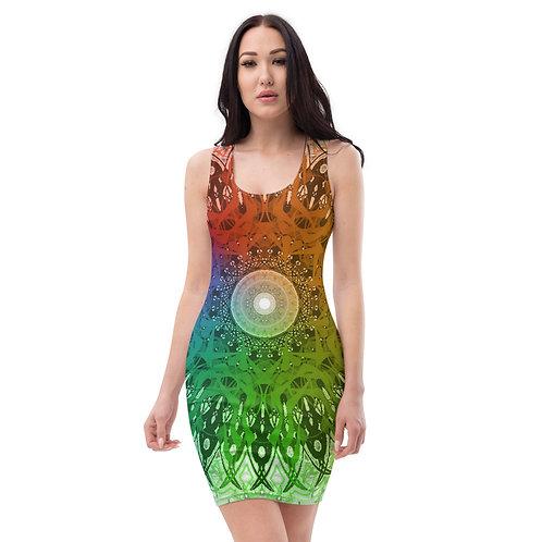 4B21 Spectrum White Sublimation Cut & Sew Dress