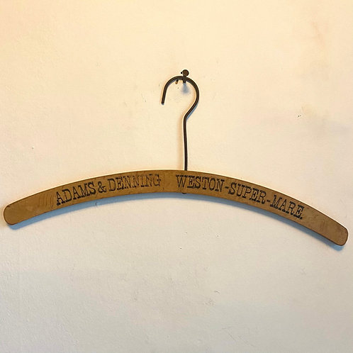 Vintage Wood and Wire Advertising Clothes-hanger