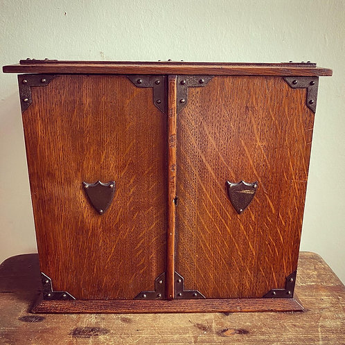 Antique Re-purposed Oak Smokers Cabinet