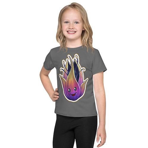 The Phoenix Flower Cute Gray Kids T-Shirt