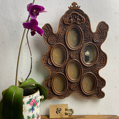 Antique Carved Oriental Frame