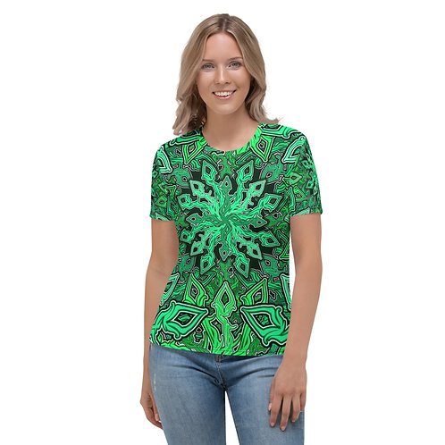 13CH21 OddSpectrum Green Women's T-shirt