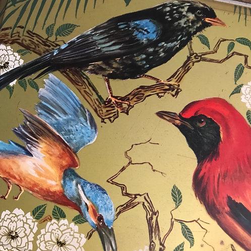 Large 1930's Painted Bird Tin SOLD
