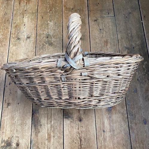 Antique Chunky Wicker Basket