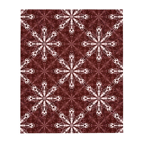 1X17 2021 Red Throw Blanket