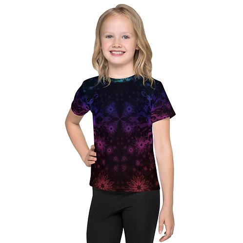 138V1. Elegant Bromeliad Snowflake Colorwild I Kids T-Shirt
