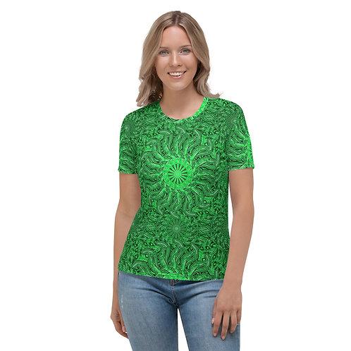 16O21 OddSpectrum Green Women's T-shirt
