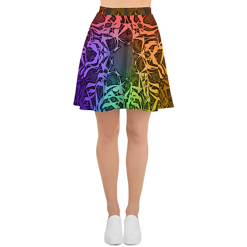 7C21 Spectrum Gray V1 Skater Skirt