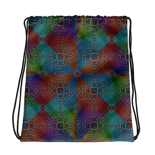 2H21 Spectrum Diamond Pattern Drawstring bag