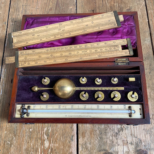 Antique Boxed Hydrometer by Sikes