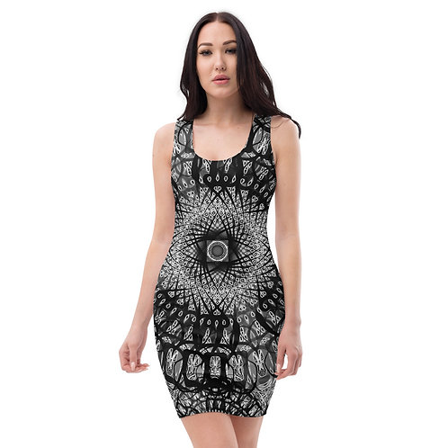 210 Oddflower Tile 2021 Sublimation Cut & Sew Dress