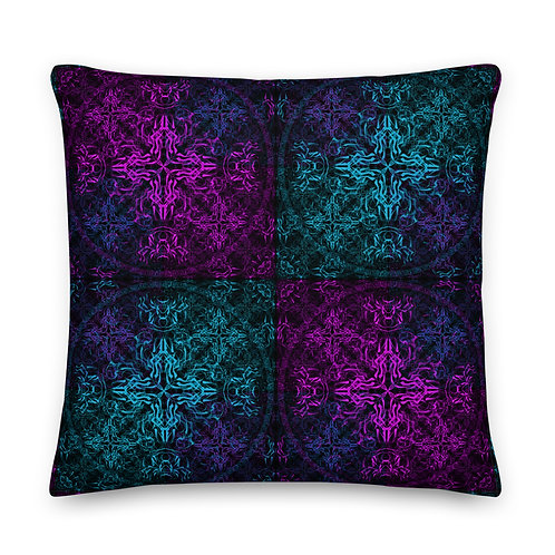 10Ω17 Wind Compass Colliders Jewels Premium Pillow